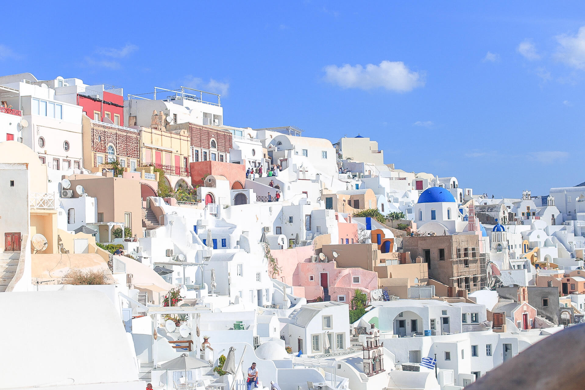 気持ちが明るくなれる♡ギリシャ【サントリーニ島】で過ごすまったりお散歩時間